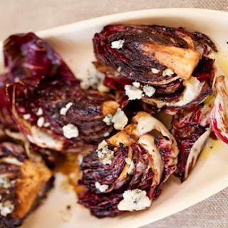 Grilled Radicchio Salad with Gorgonzola and Balsamic Vinaigrette.