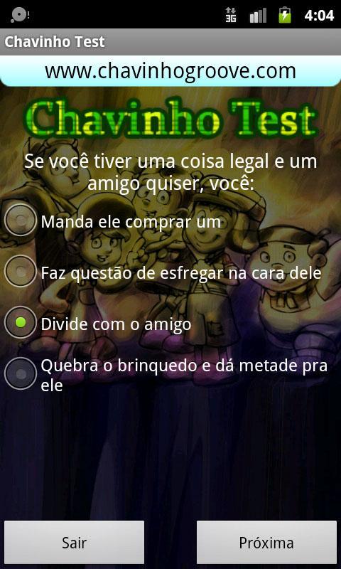 Chavinho Test - Teste Chaves- screenshot