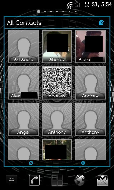 APW Theme DarkWidgetsICS- screenshot