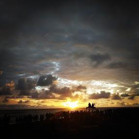 The first sunset of 2015 by Jonathan Herdioko - Landscapes Sunsets & Sunrises ( sunset, jogja, vacation, beach, parangtritis, bantul, yogyakarta, instaphoto, instasunset, asia, indonesia, newyear, xiaomi, xiaomiredmi1s )