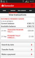 Screenshot of Business Banking
