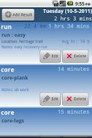 Screenshot of Triathlete's Training Diary