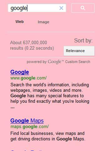Google Pink Search
