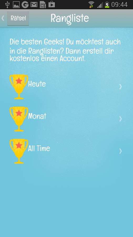 Rätsel des Tages – Screenshot