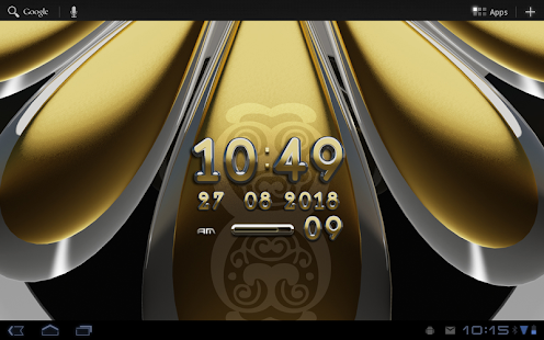 玩免費生活APP 下載digital clock Gold Deluxe app不用錢 硬是要APP