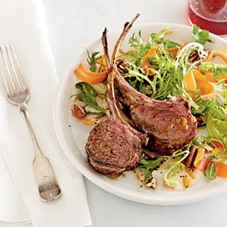 Rack of Lamb with Carrot Salad
