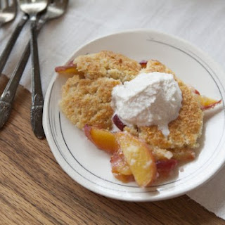 Peach Cobbler With Cardamom Whipped Cream