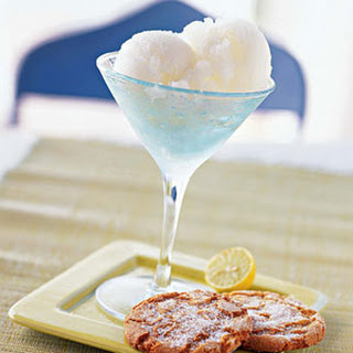 Key Lime Sorbet with Gingersnaps.