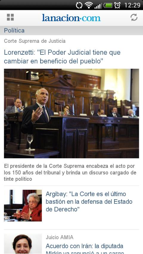 LA NACION - screenshot