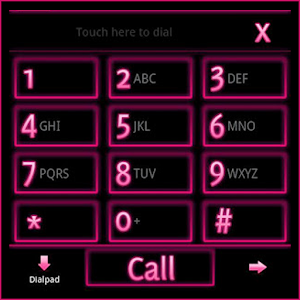 GO Contacts EX Theme Pink Neon 通訊 App LOGO-APP試玩