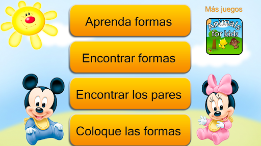Learn shapes for kids Spanish