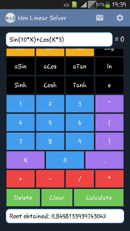 Non Linear Solver Free - screenshot