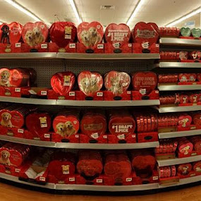 And this is why Valentine's Day is stupid! by Matt Mcclenahan - Instagram & Mobile Android ( pano, valentines day, shopping )