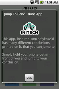 Jump to Conclusions App- screenshot thumbnail