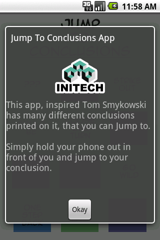 Jump to Conclusions App - screenshot