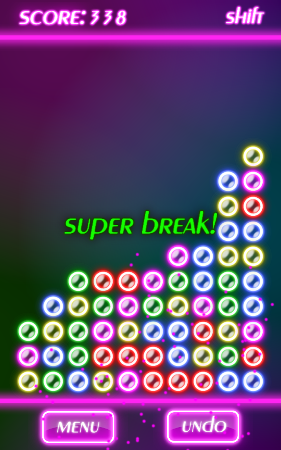 Bubble Breaker Neon- screenshot