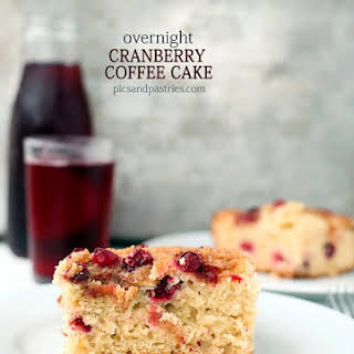 Overnight Cranberry Coffee Cake.