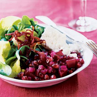 Pomegranate and Beet Salad.