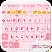 Pink Rose Emoji Keyboard