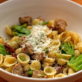 Orecchiette with Sausage, Broccoli, and Caramelized Garlic