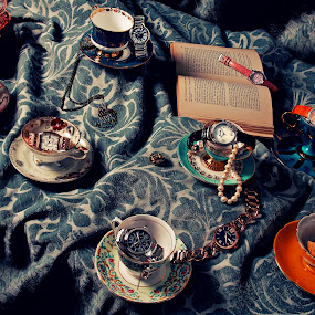 Bertha Watches with Teacups by Joe Eddy - Artistic Objects Jewelry ( ladies, chic, book, wrist, bertha, shabby, watches, teacup )