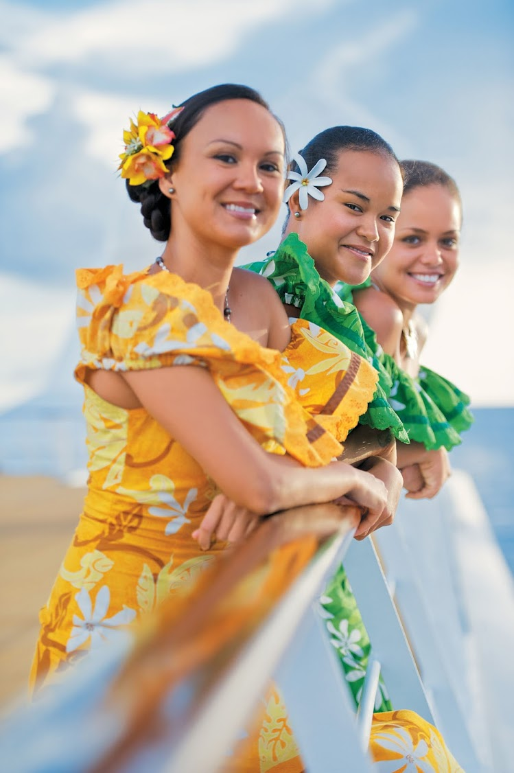 Take in a show in the Paul Gauguin's Le Grand Salon or on pool deck and learn how to dance in true Polynesian style.