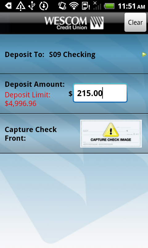 Wescom Credit Union Mobile - screenshot