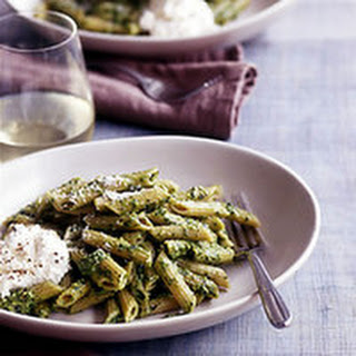 Whole Wheat Penne with Pesto and Ricotta Recipe