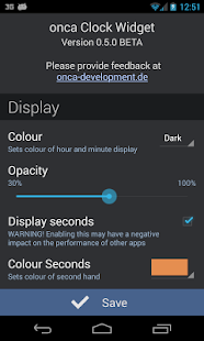 onca Clock Widget - screenshot thumbnail