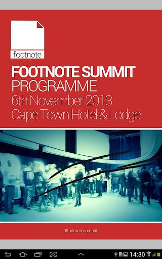 Footnote Summit