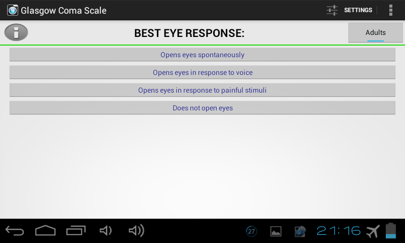 Glasgow Coma Scale PRO - screenshot