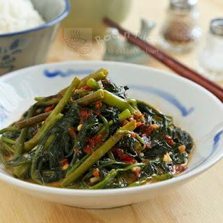 Stir Fry Spicy Water Spinach
