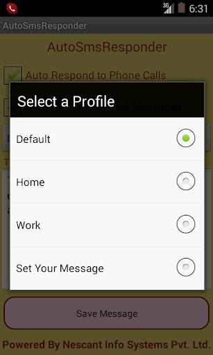 Auto SMS Responder