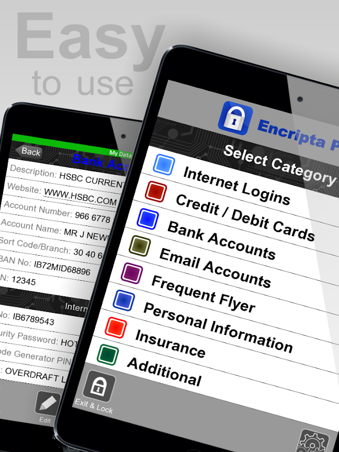 Encripta Password Manager- screenshot