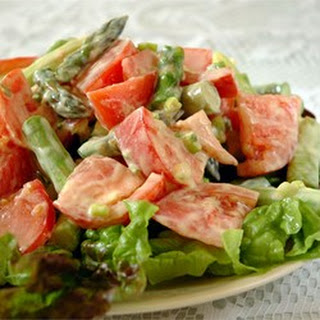 Asparagus and Tomato Salad with Yogurt-Cheese Dressing