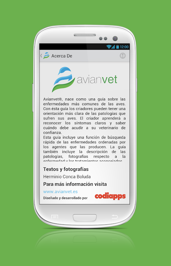 Avianvet.es: captura de pantalla