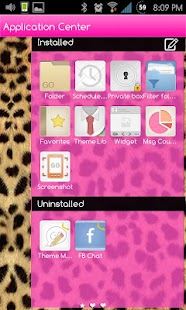 Go SMS Themes: Pink Cheetah - screenshot thumbnail