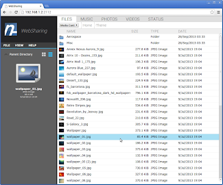 WebSharingLite (File Manager) Screenshot 3