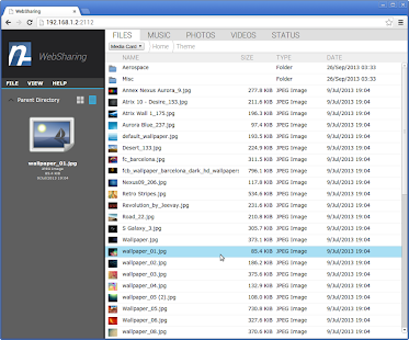WebSharingLite (File Manager) - screenshot thumbnail