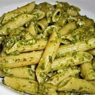 Penne With Garlic Pesto.