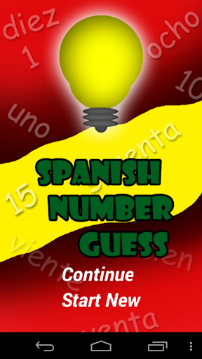 Spanish Number Guess