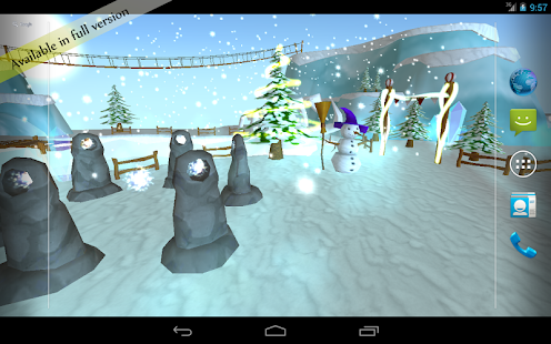 Snow Free 3D Live Wallpaper - screenshot thumbnail