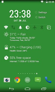 KK Widget ( DashClock + )- screenshot thumbnail