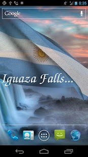 3D Argentina Flag LWP- screenshot thumbnail