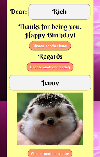 Birthday eCard
