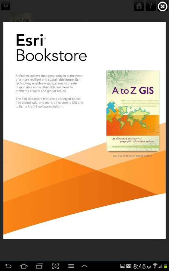 Esri Bookstore - screenshot
