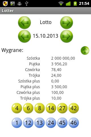 Lotter - wyniki lotto