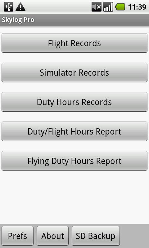 Skylog Pro- screenshot