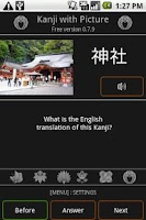 Screenshot of Kanji with Picture Free