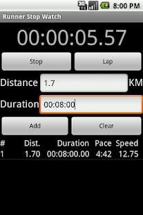 Runner Stop Watch - screenshot thumbnail